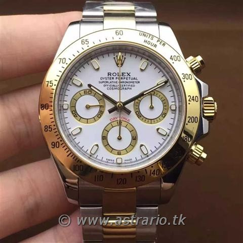 Replica Rolex DAYTONA GOLD DIAL BLANCO Ø40mm.